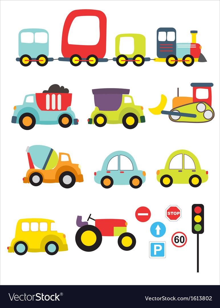 Lovely transport vector image