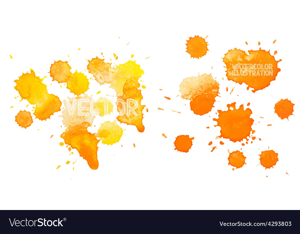 Colorful abstract hand drawn watercolour aquarelle vector image