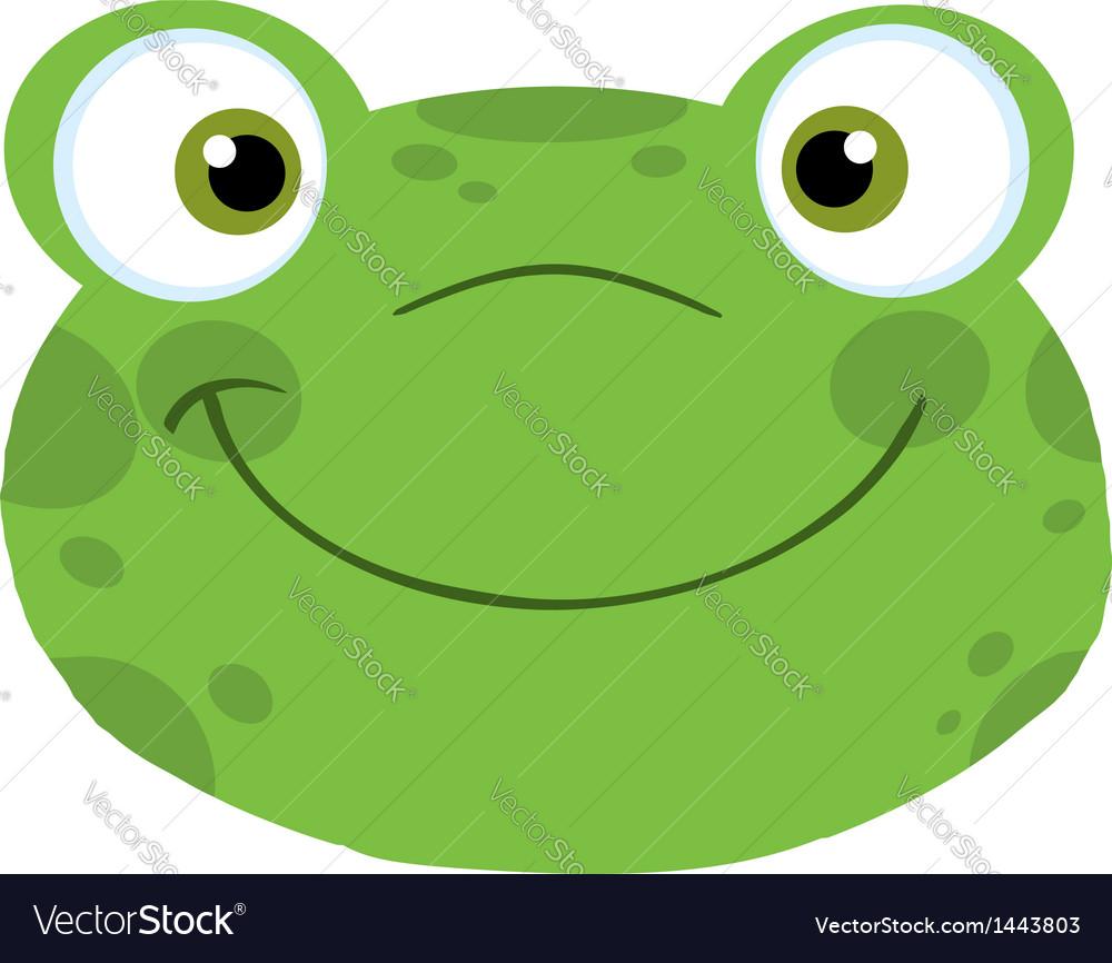 Cute Frog Smiling Head vector image