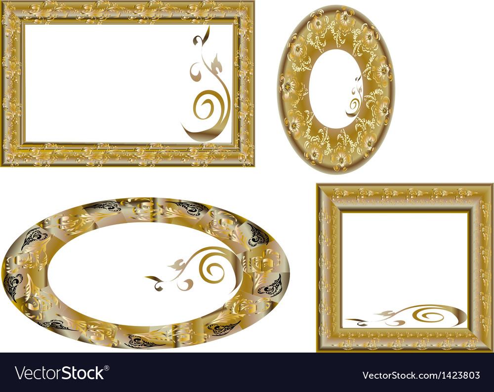 Fantasy gold frames Royalty Free Vector Image - VectorStock