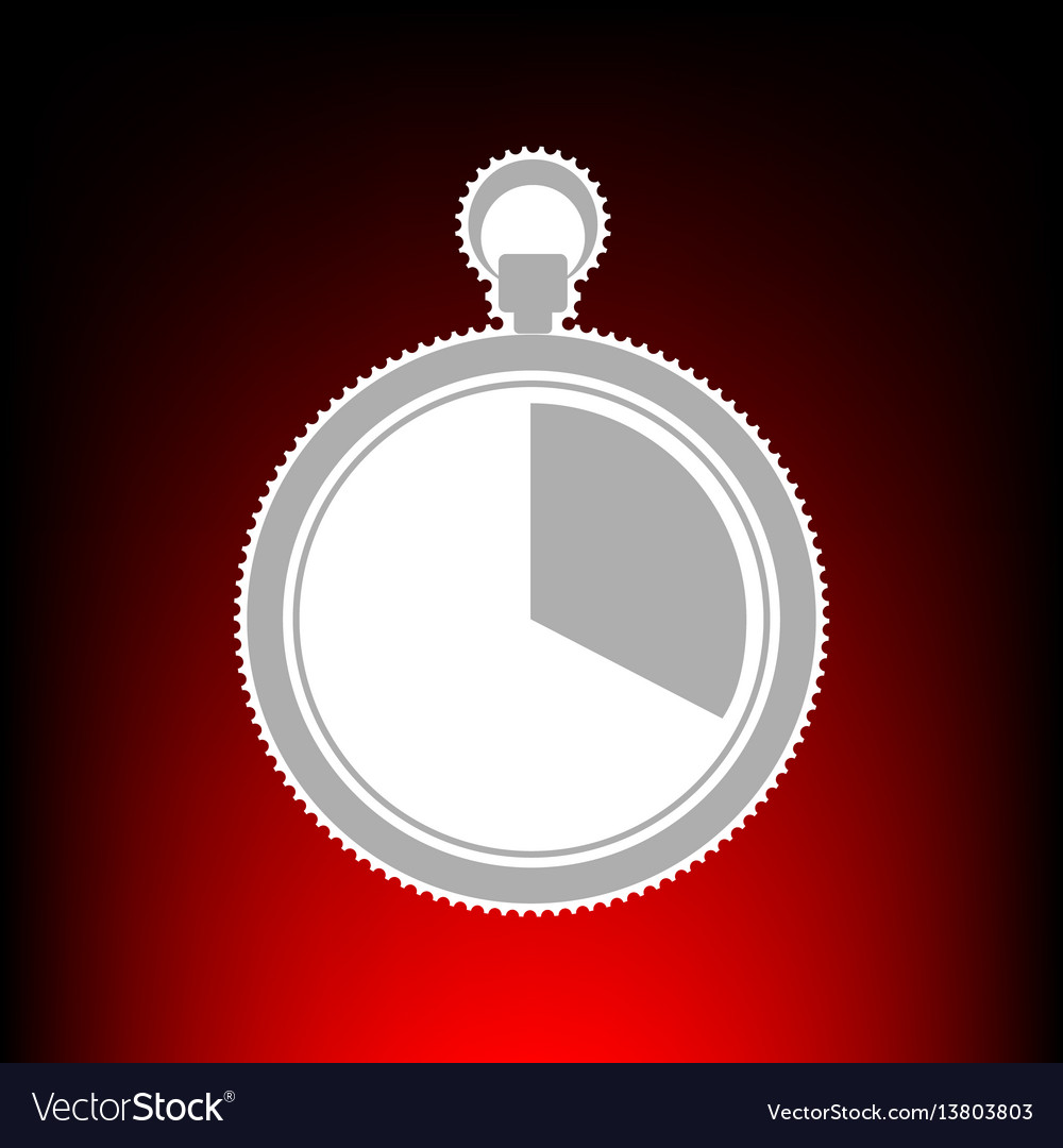 The 20 seconds minutes stopwatch sign postage vector image