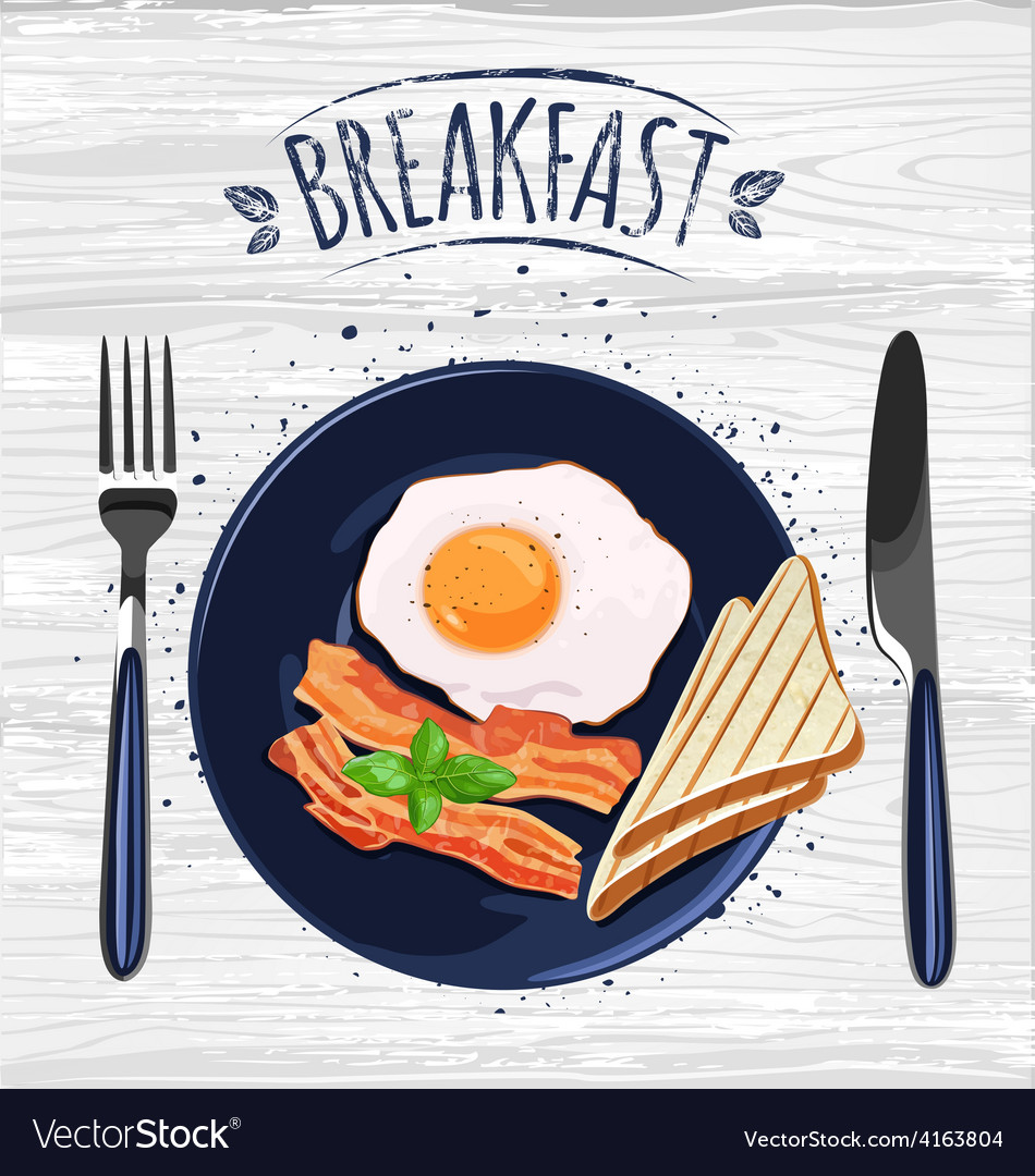 Breakfast poster vector image