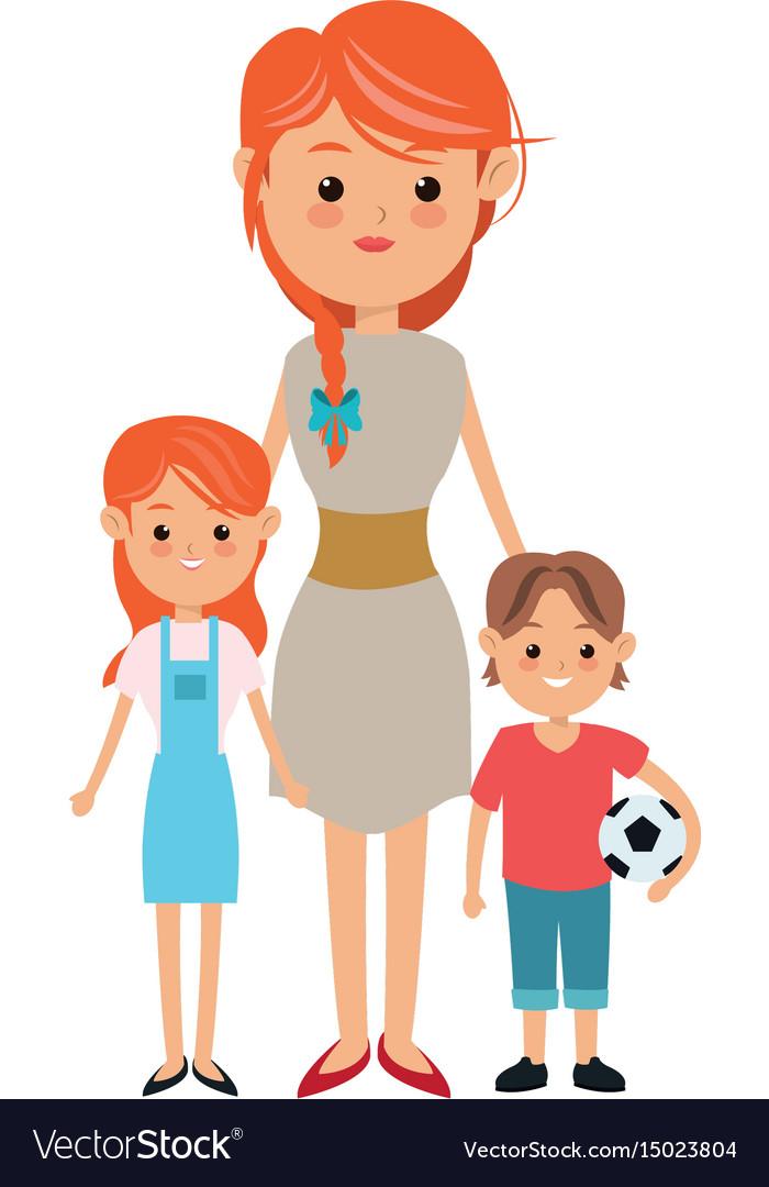 Single mother family sad