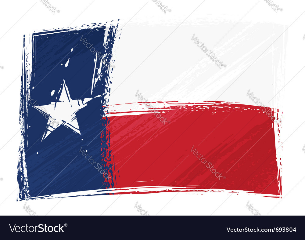 Grunge texas flag vector image