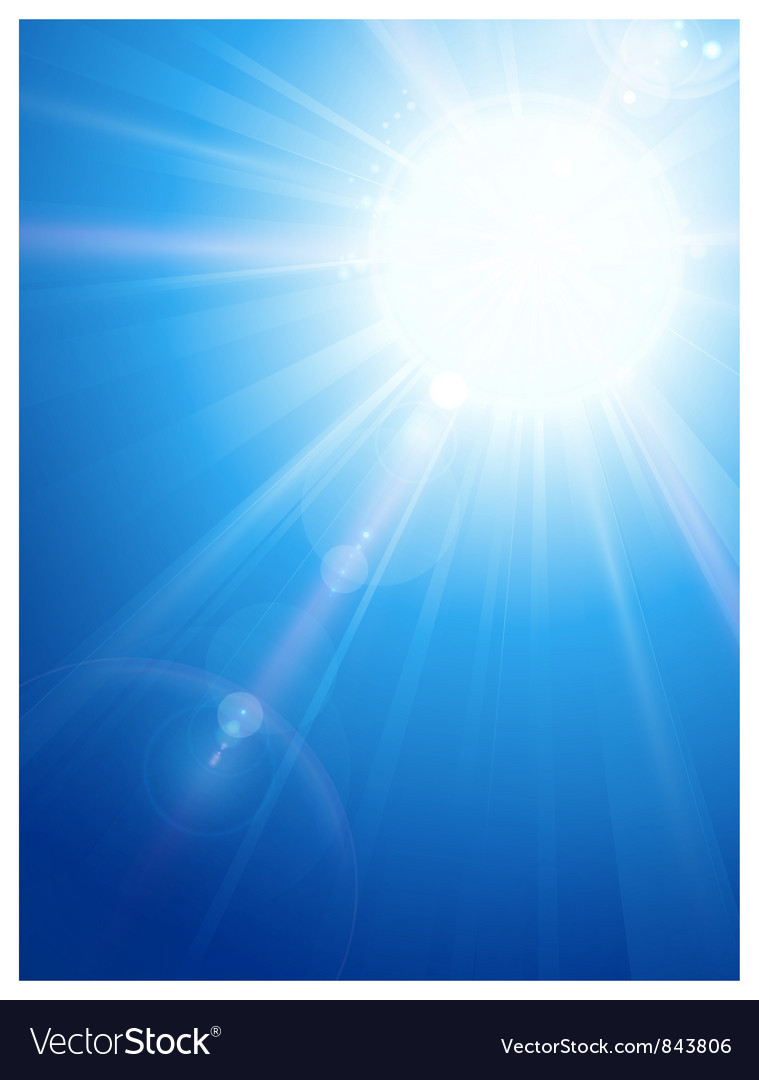Blue sky vector image