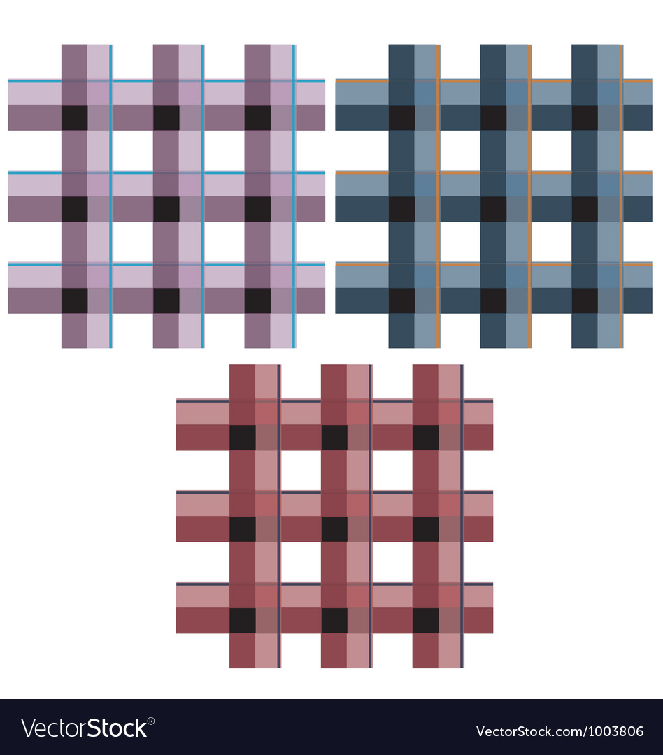 Seamless check fabric pattern vector image