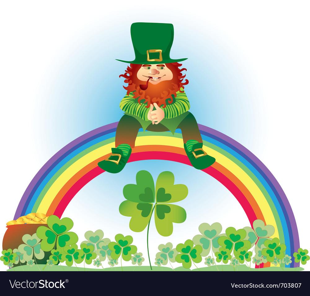 Uncategorized Leprechauns And Rainbows leprechaun and rainbow royalty free vector image image