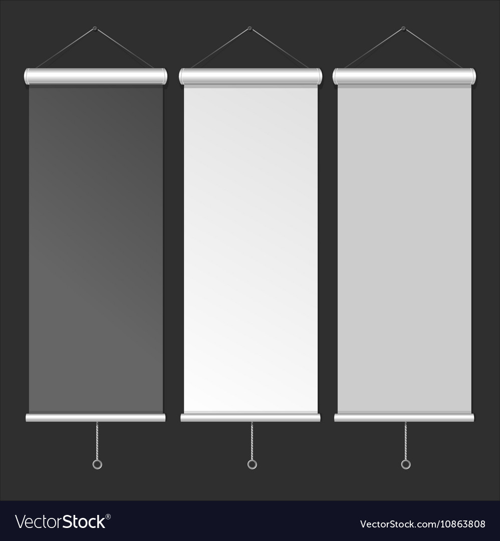 Blank Roll Up Banner Template vector image