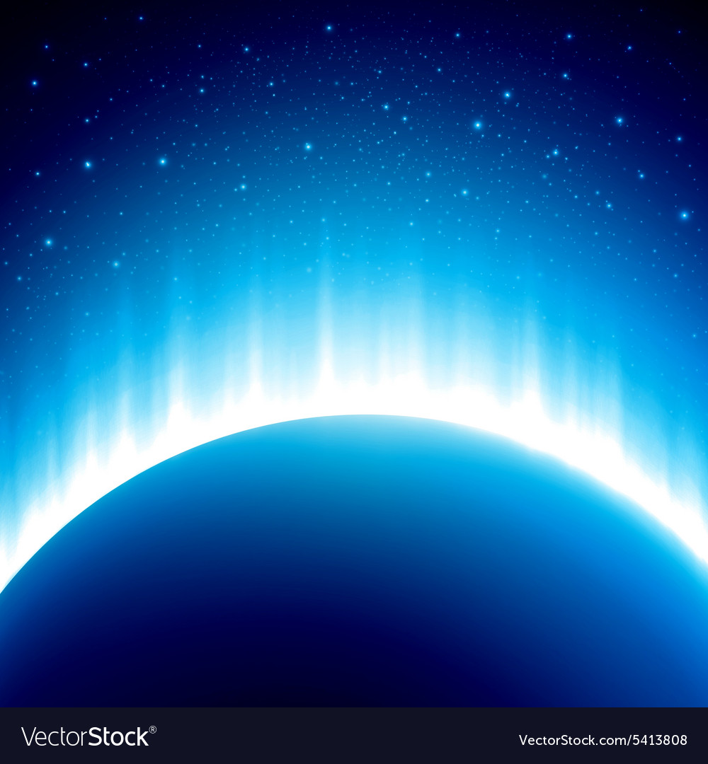 Dark blue colored space background with beautiful vector image