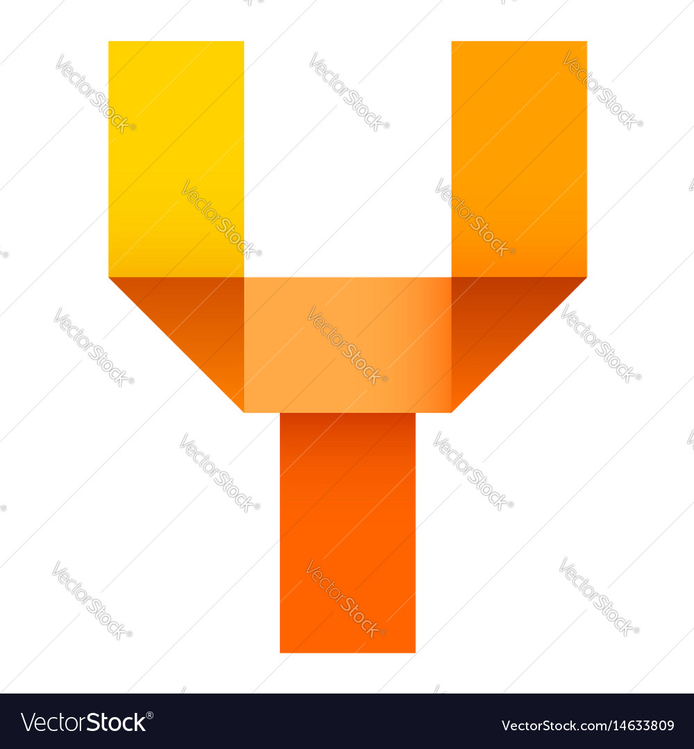 Bright letter folded of paper vector image