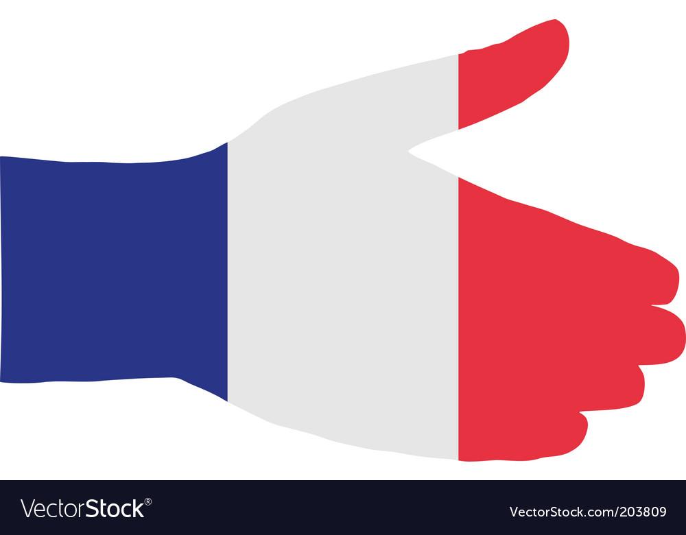 French handshake vector image