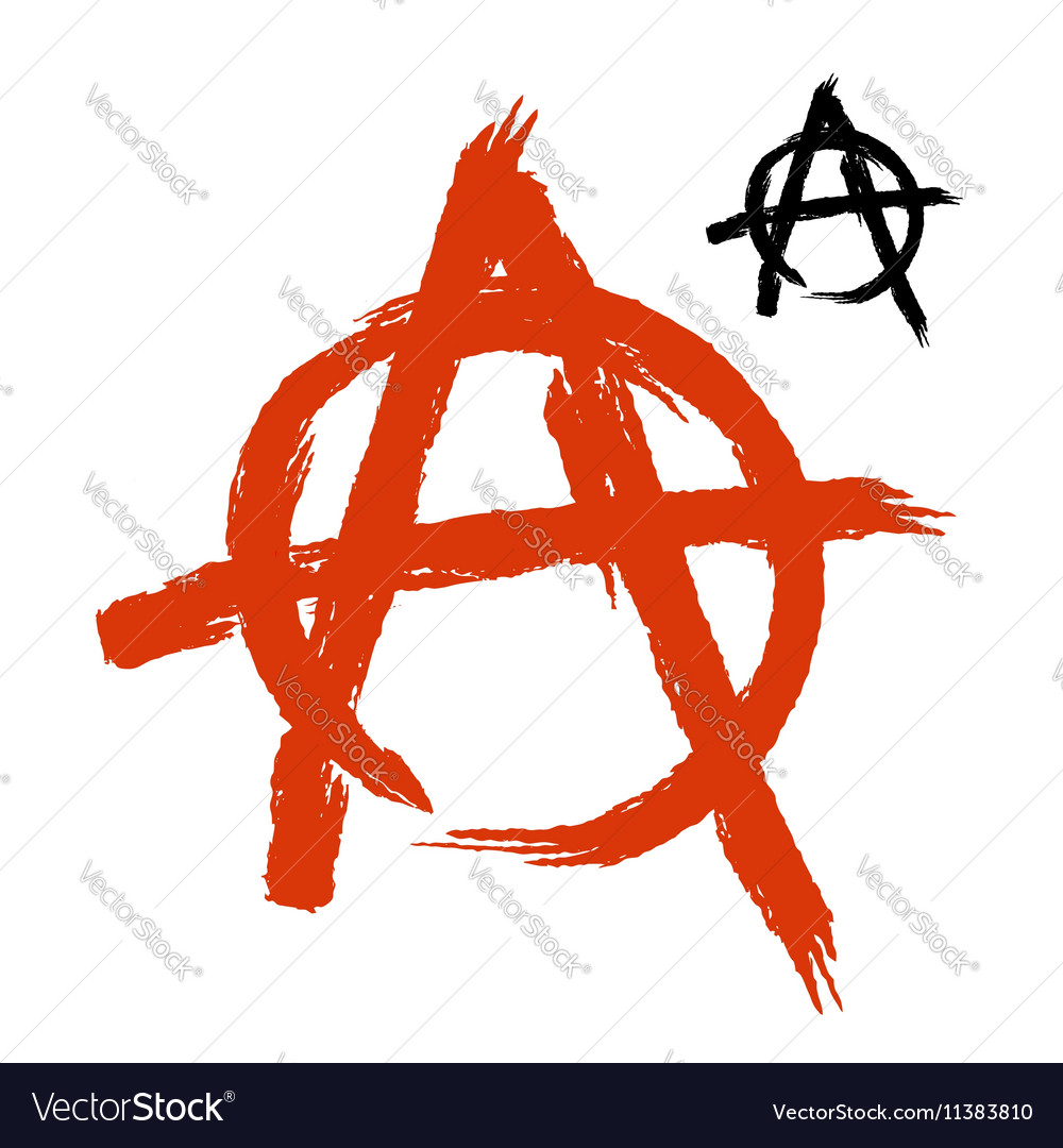 Anarchy symbol grunge style sign of disorder and vector image anarchy symbol grunge style sign of disorder and vector image buycottarizona