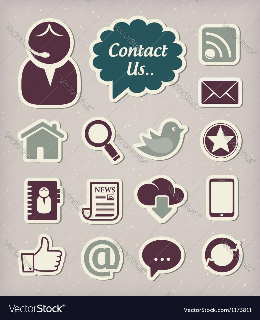 Communication icons set vector image