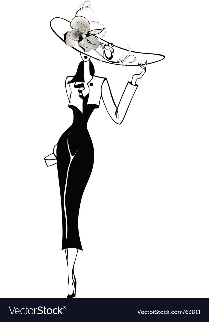 Elegant lady vector image