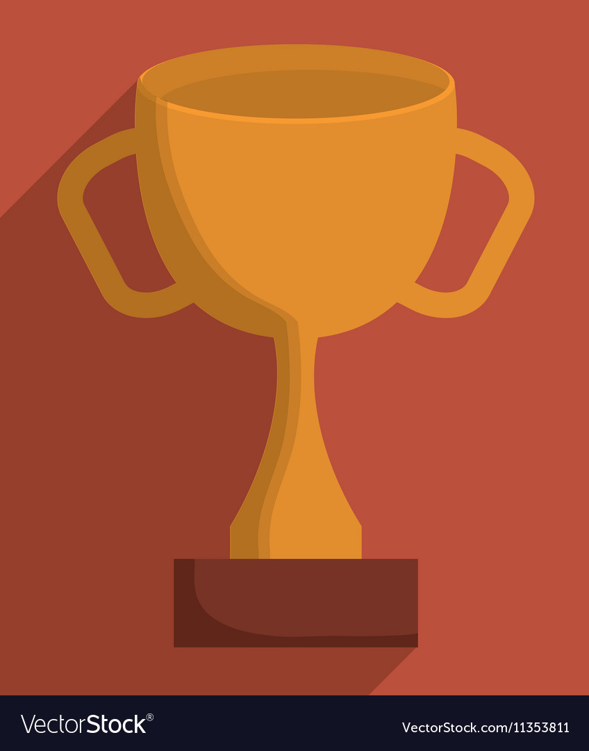 Gold Trophy Cup Design Vector Image