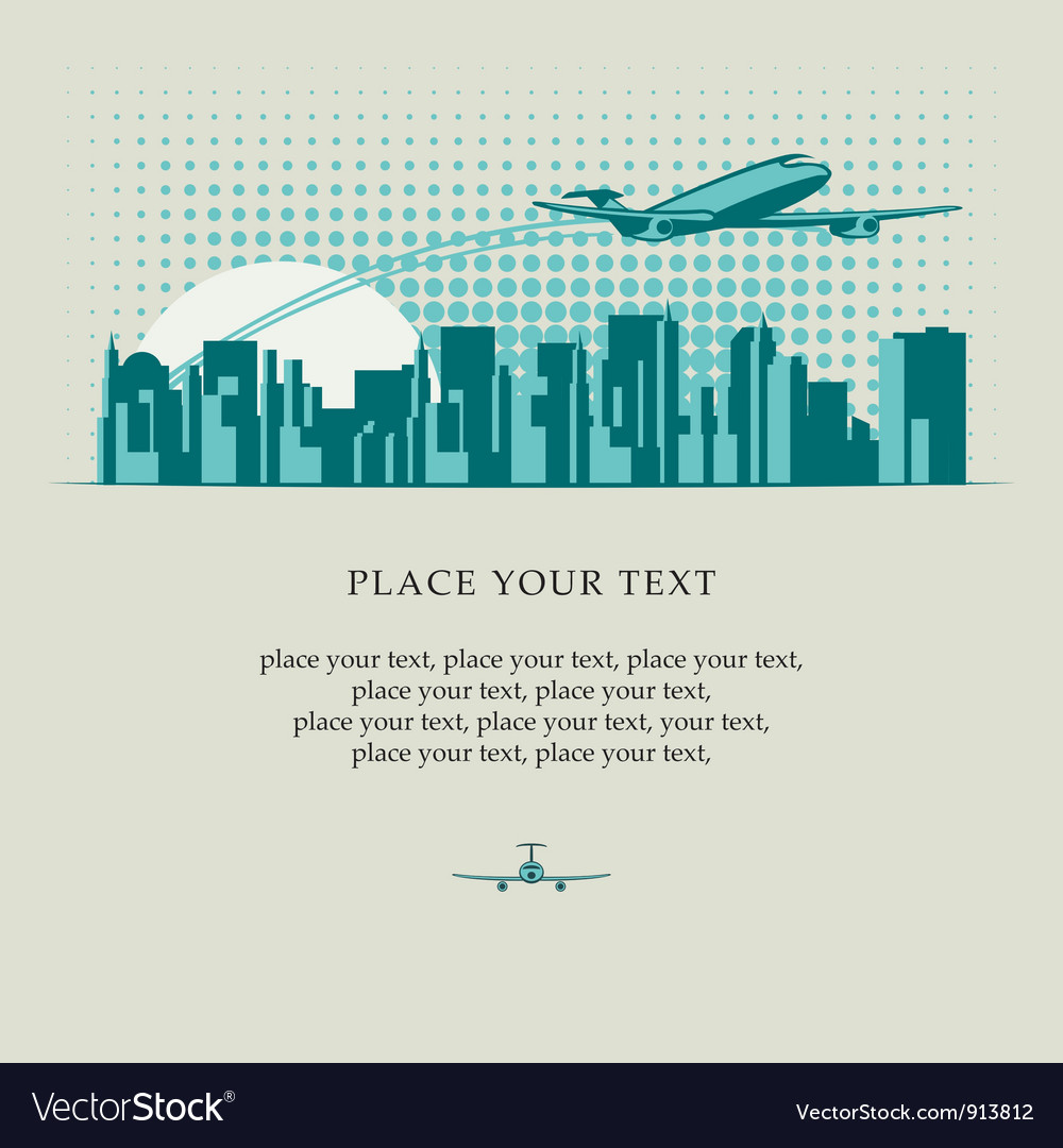 Jet city vector image
