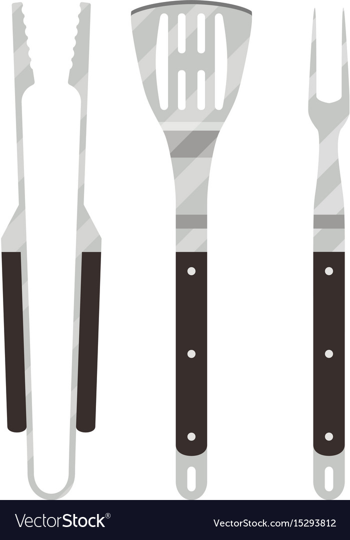 Barbecue utensils set vector image