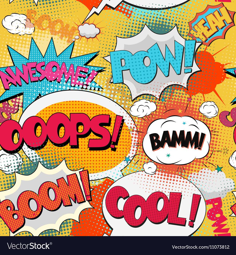 Comic Book Bubble Text vector image