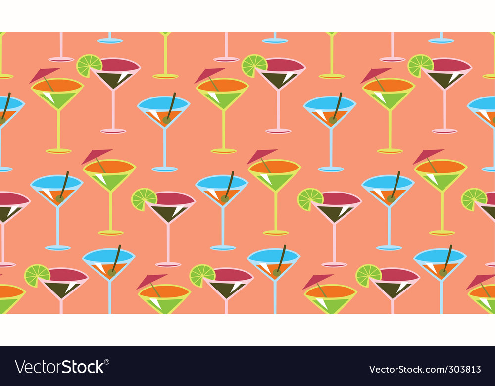 Cocktail pattern vector image