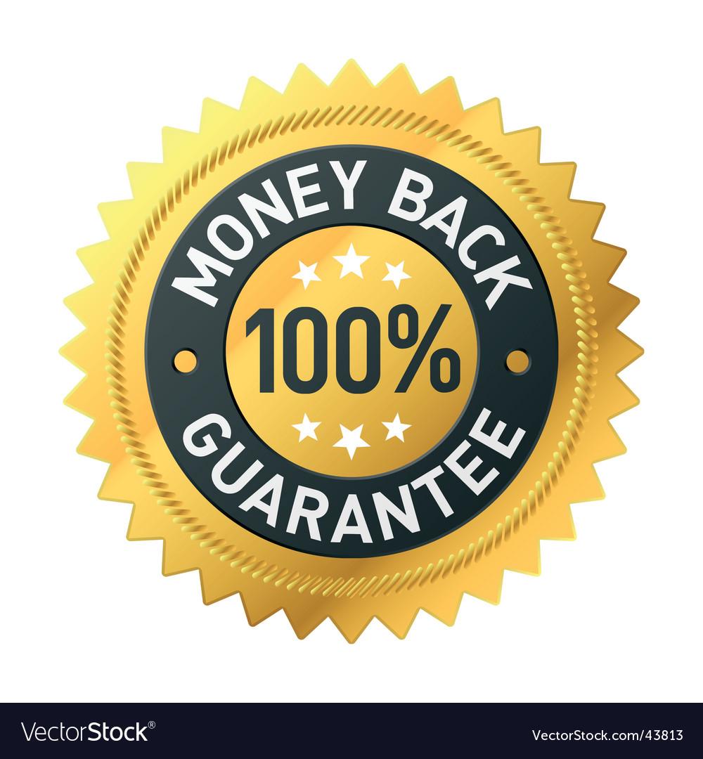 Money back label vector image