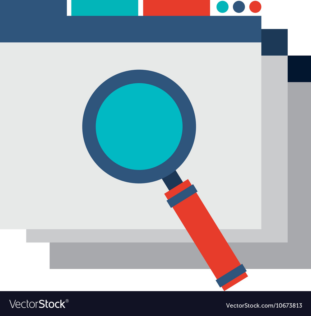 Template web page with seo icon vector image