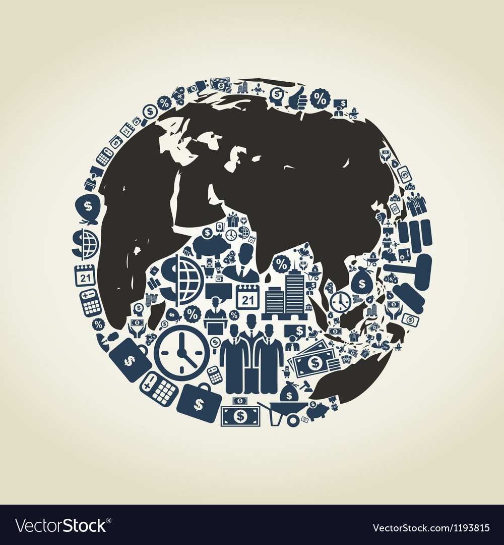 Business a planet vector image