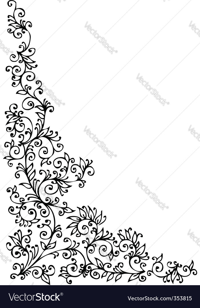 Decorative vignette vector image