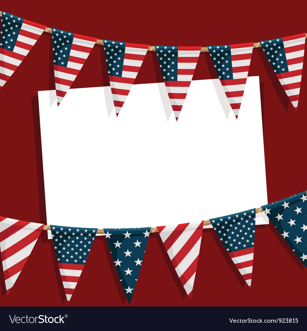 Usa party card vector image