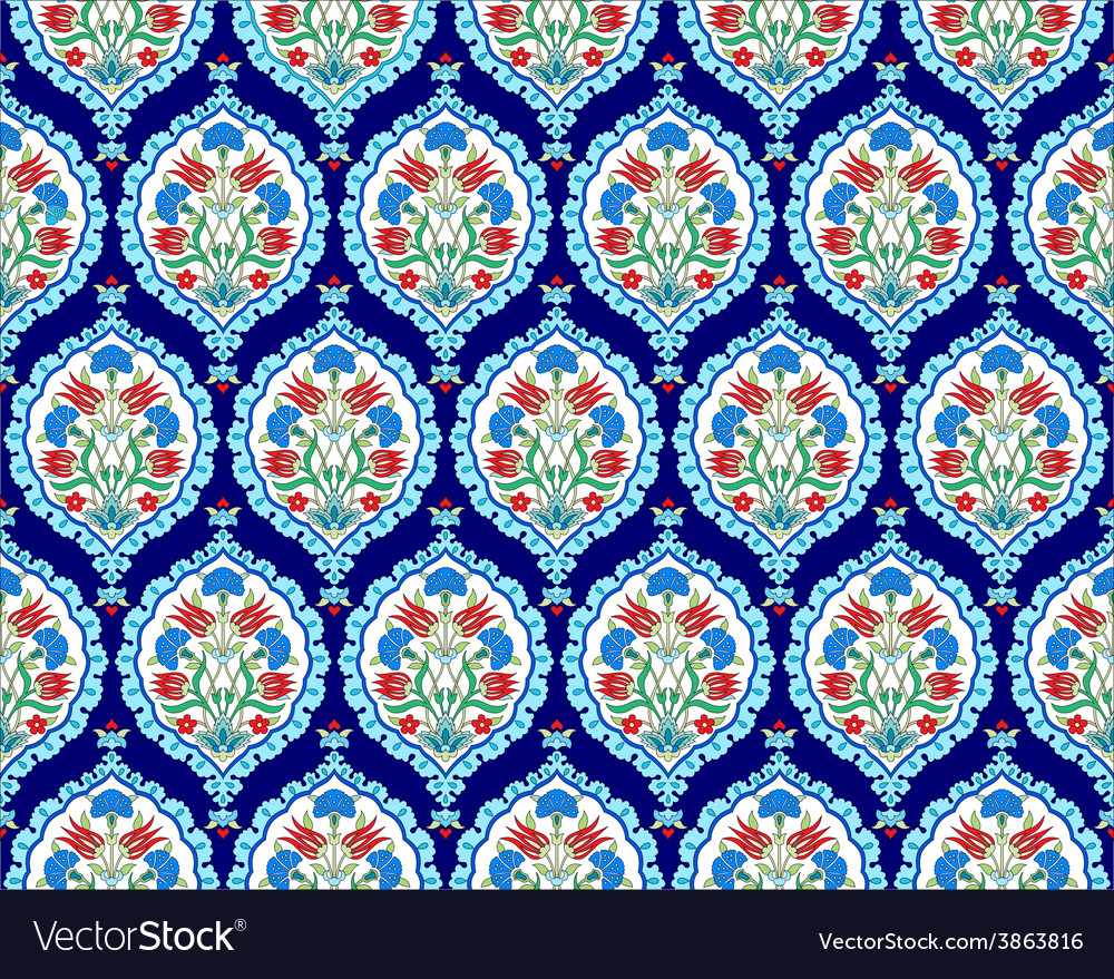 Background with seamless pattern three vector image