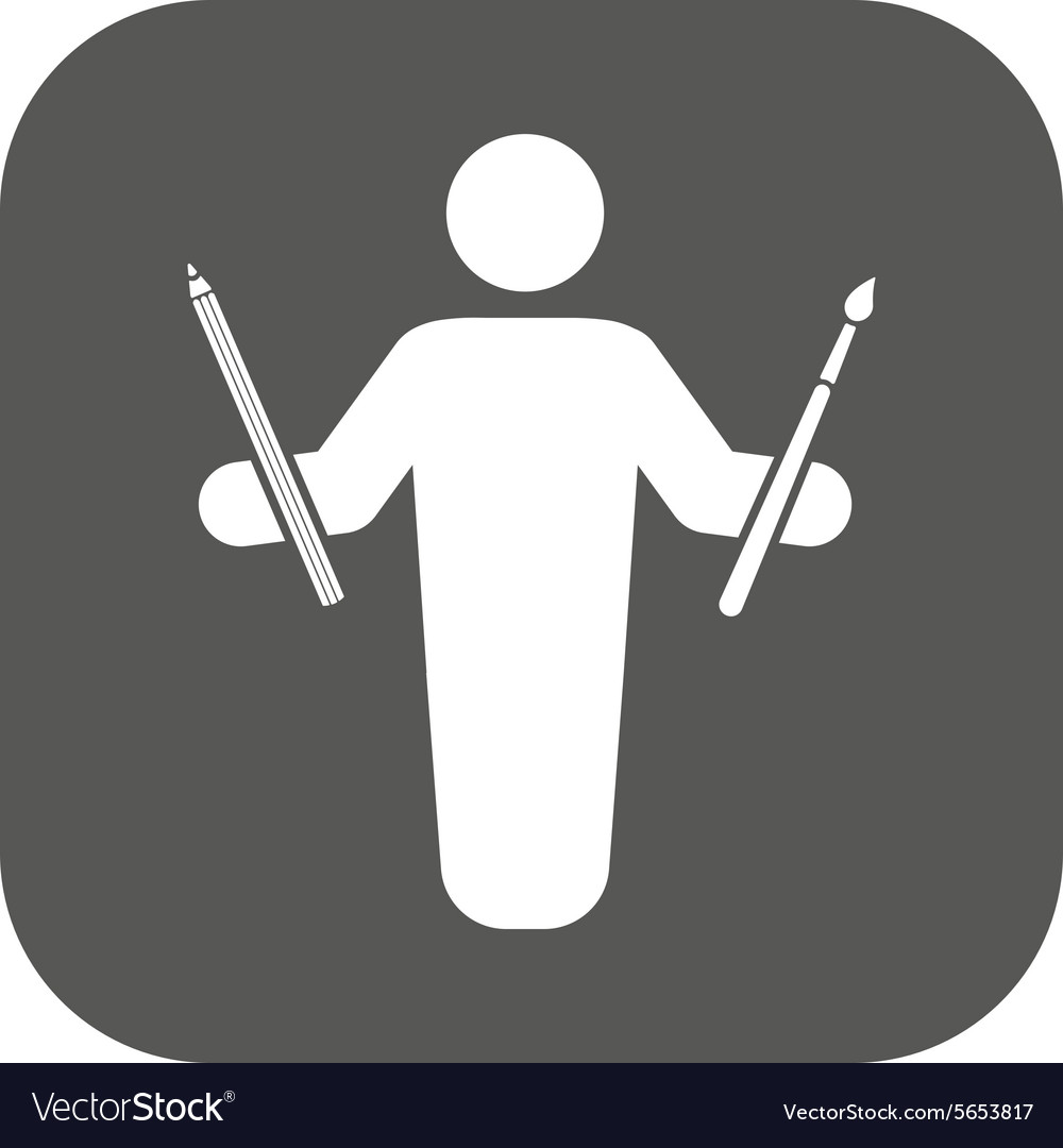 The painter avatar icon Artist and craftsman vector image