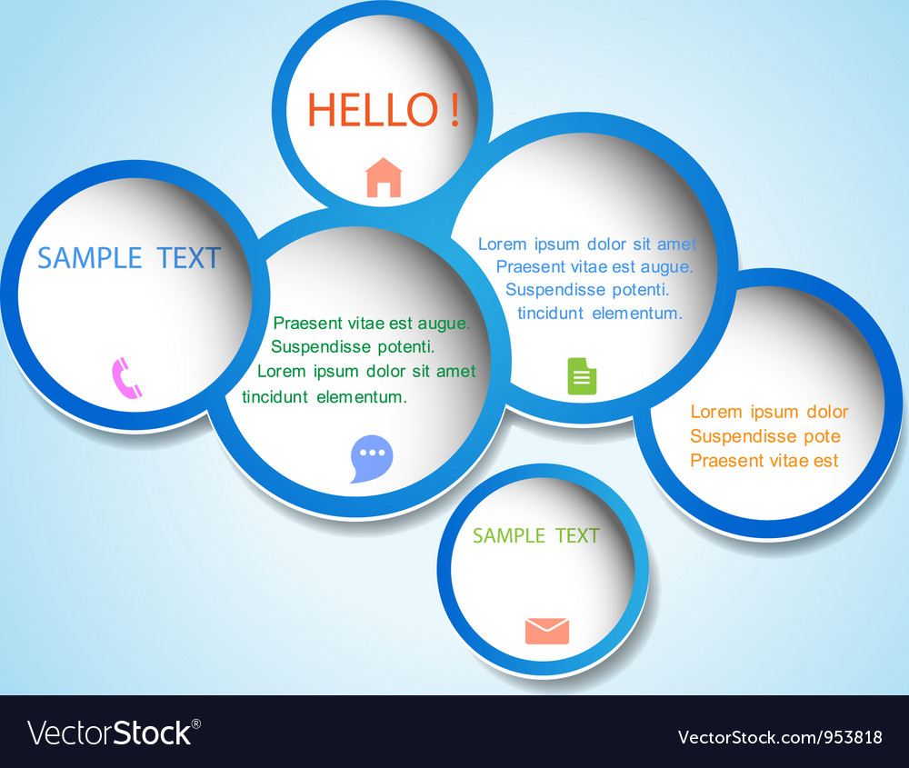 Trendy web design bubbles vector image
