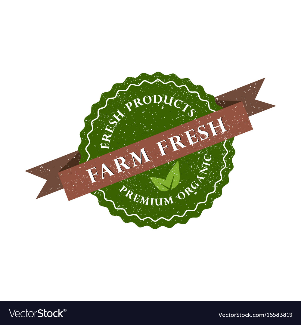 Farm fresh product premium organic icon vector image
