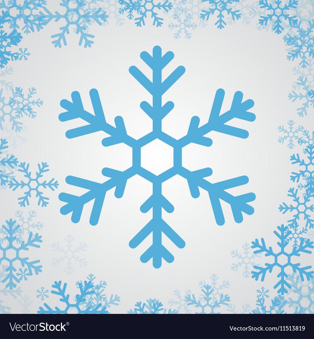 Snow flake icon vector image