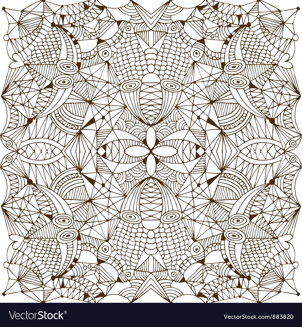 Abstract handwork background vector image