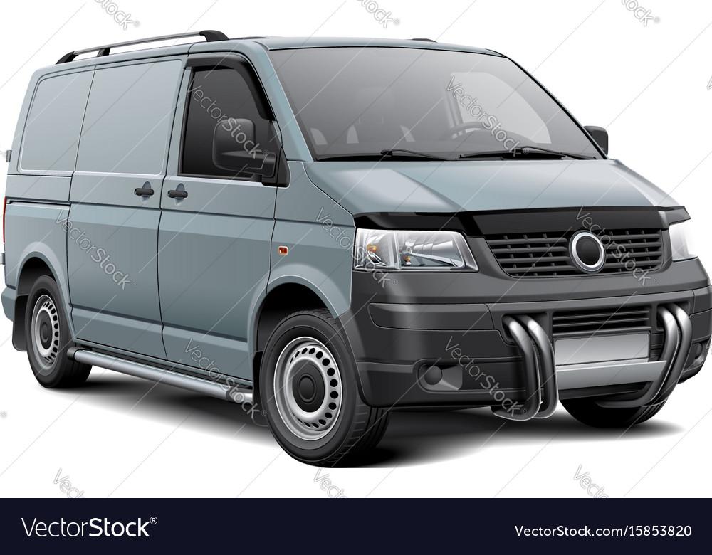 Cargo van with roo bar vector image