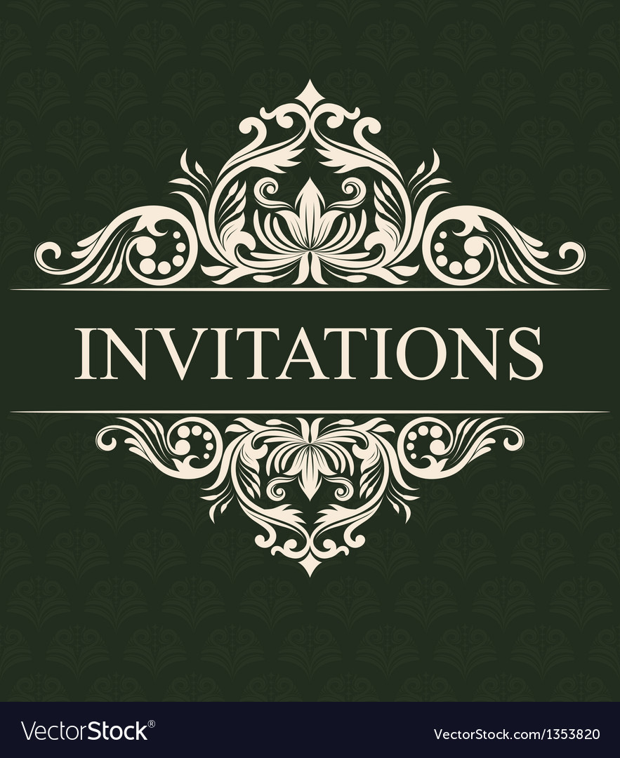 Invitations ornament royalty free vector image invitations ornament vector image stopboris Choice Image
