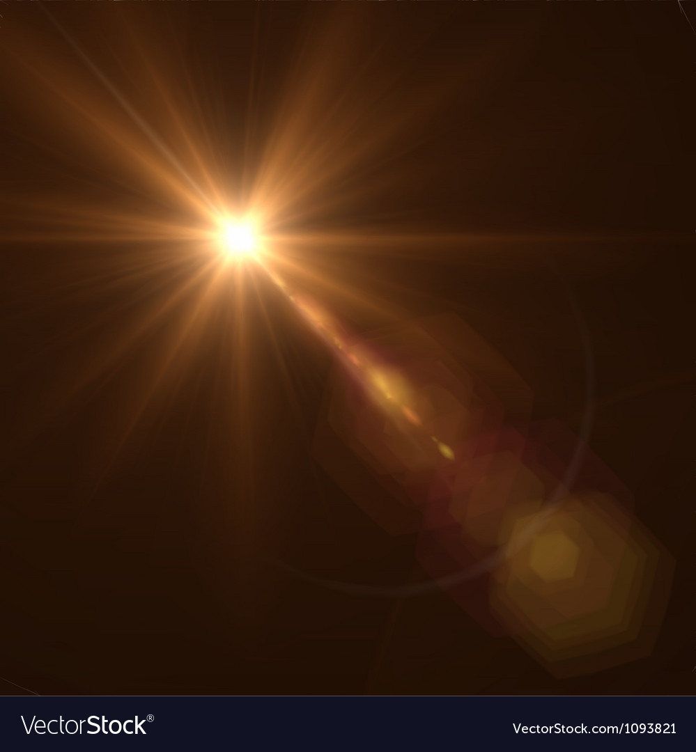 Background texture with warm sun and lens flare vector image