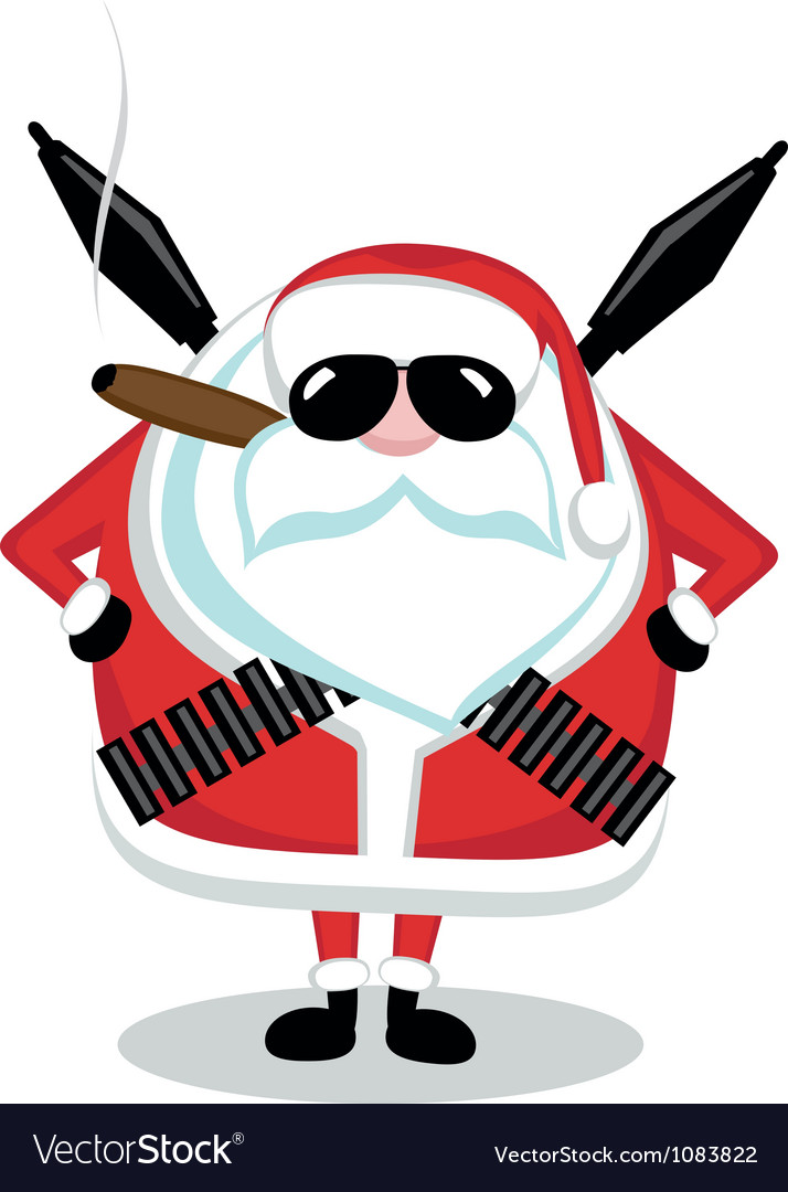 Bad Santa vector image