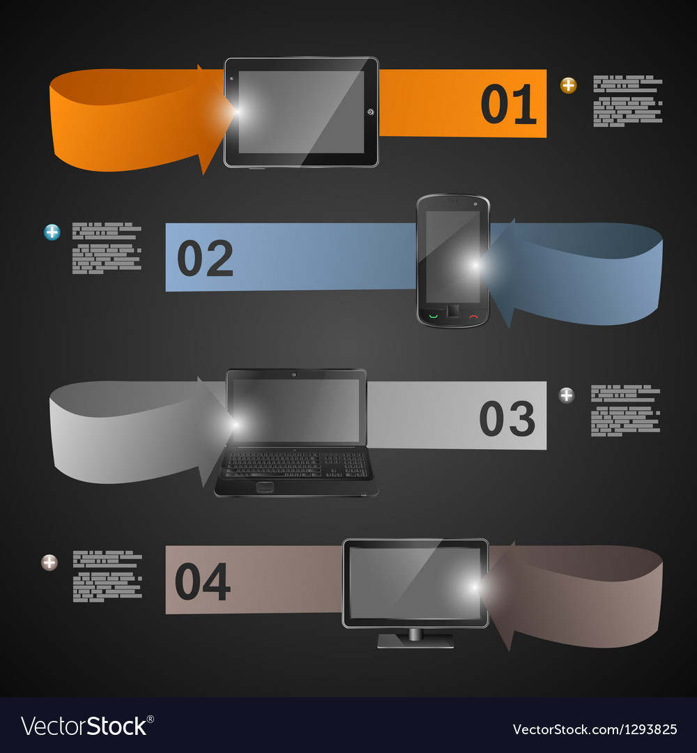 Electronic devices statistics presentation vector image