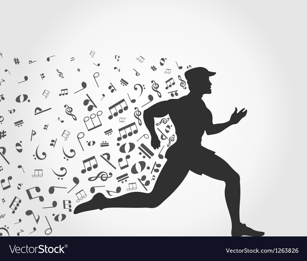 Music run vector image