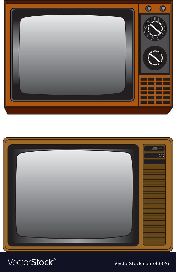 TV illustration vector image