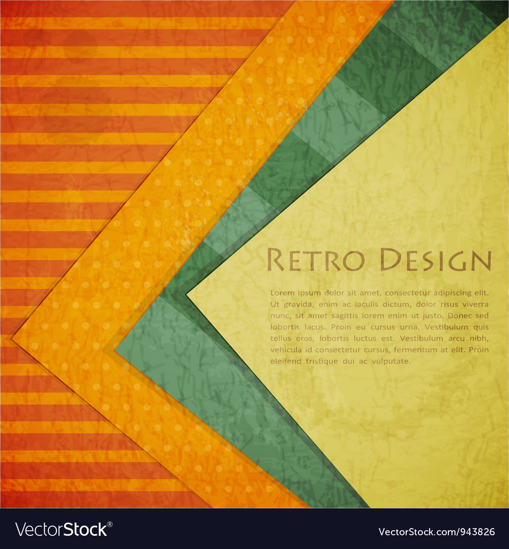Color Paper Retro vector image