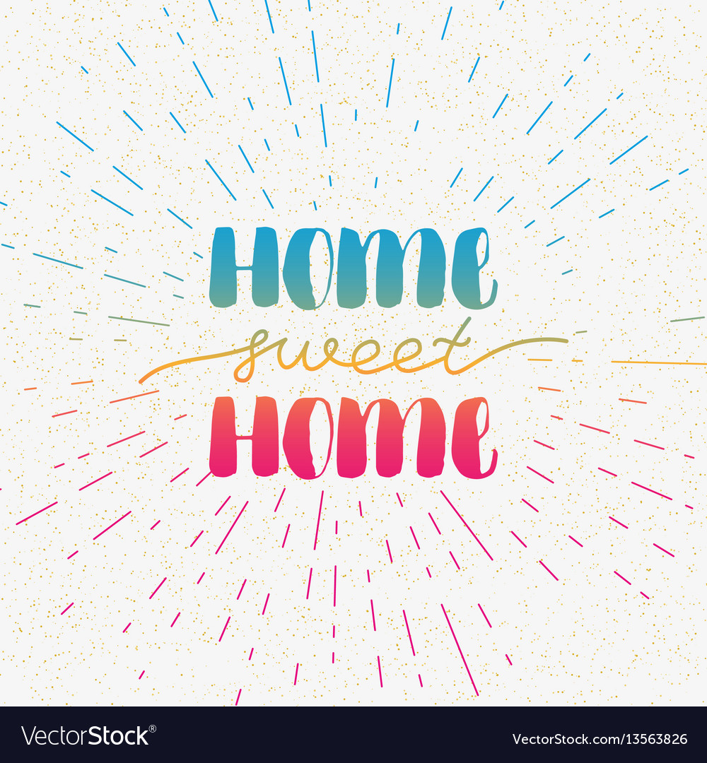 Hand lettering typography poster calligraphic vector image