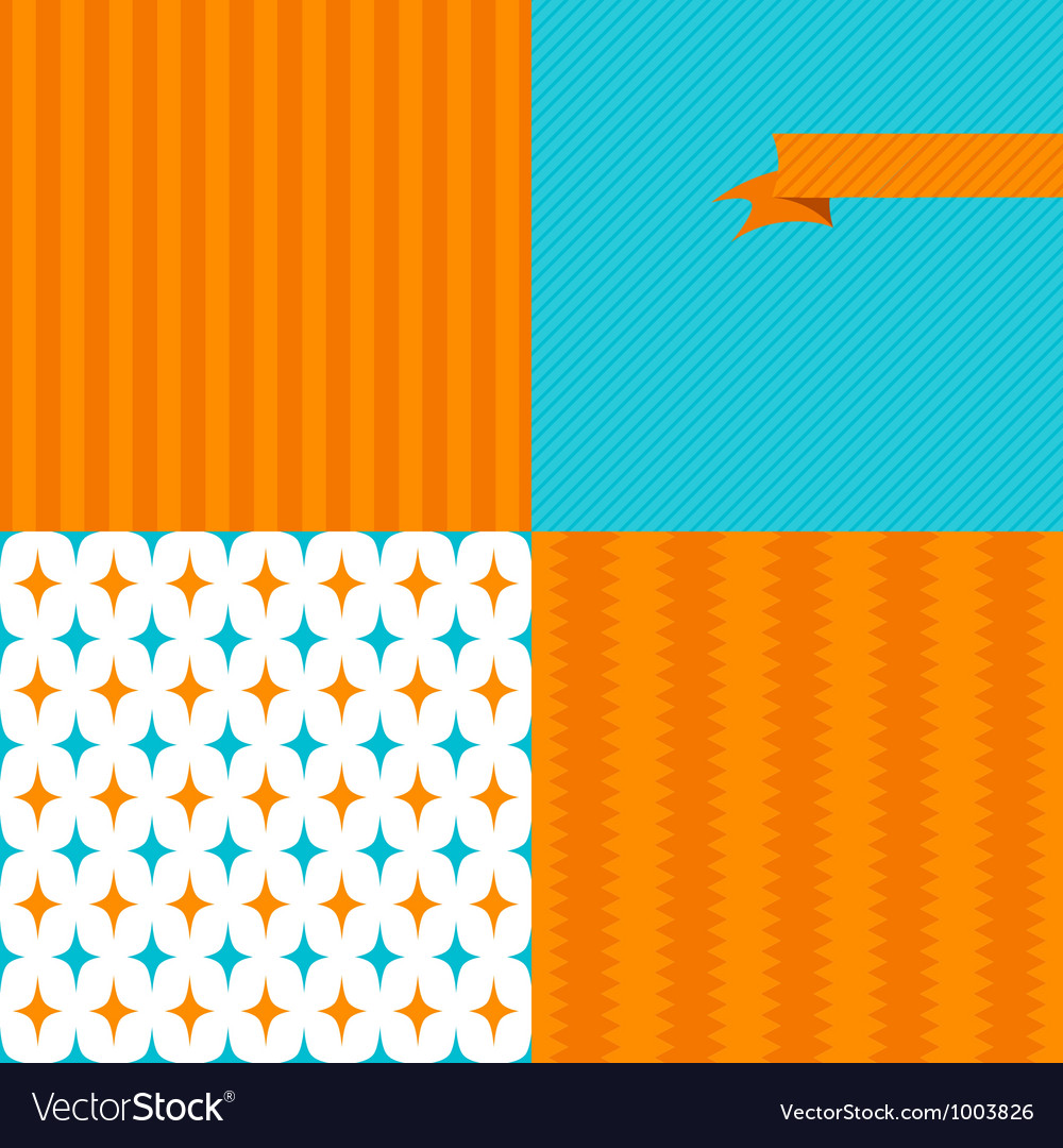 Seamless abstract retro pattern Stylish geometric vector image