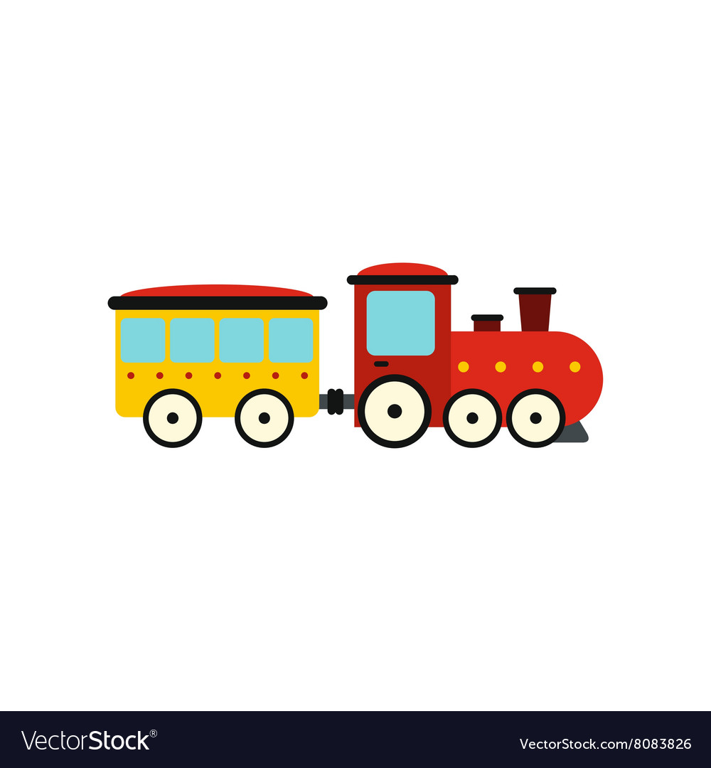 Train in amusement park icon vector image