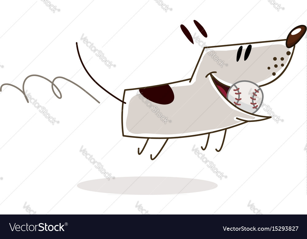 Dog with ball vector image