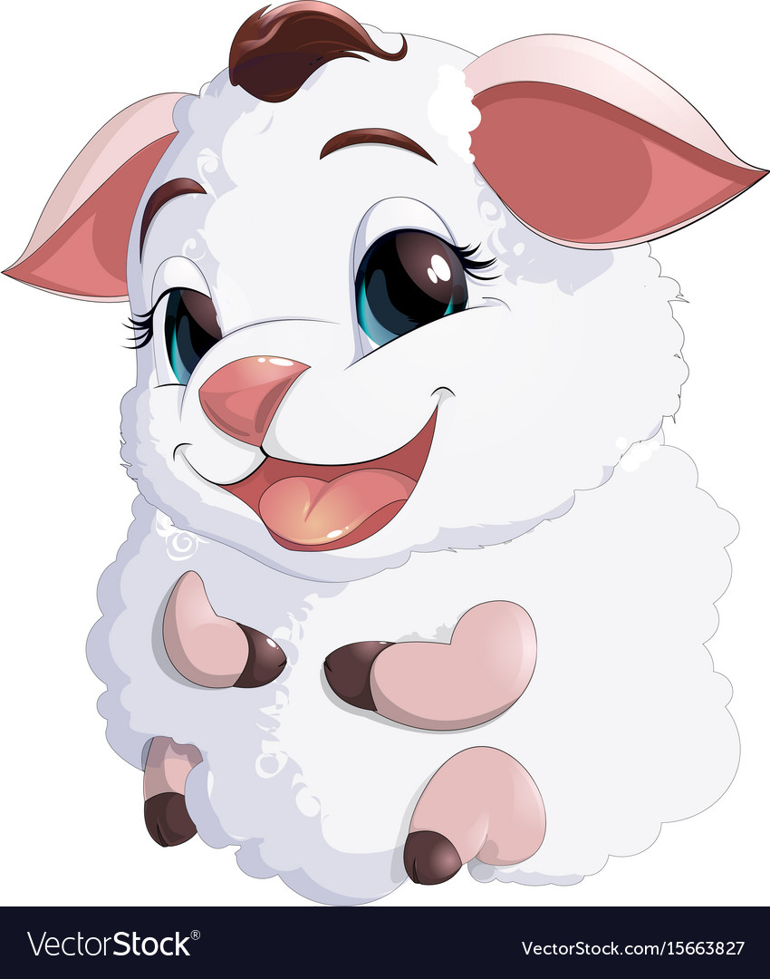 Lamb at the white background vector image