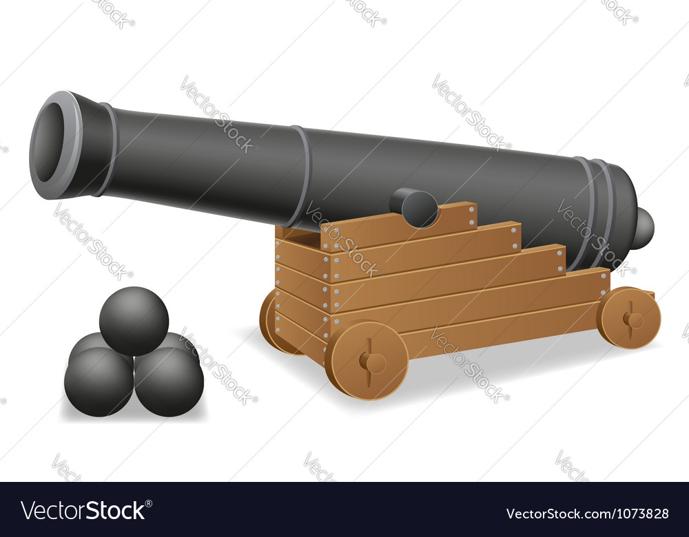 Antique cannon vector image