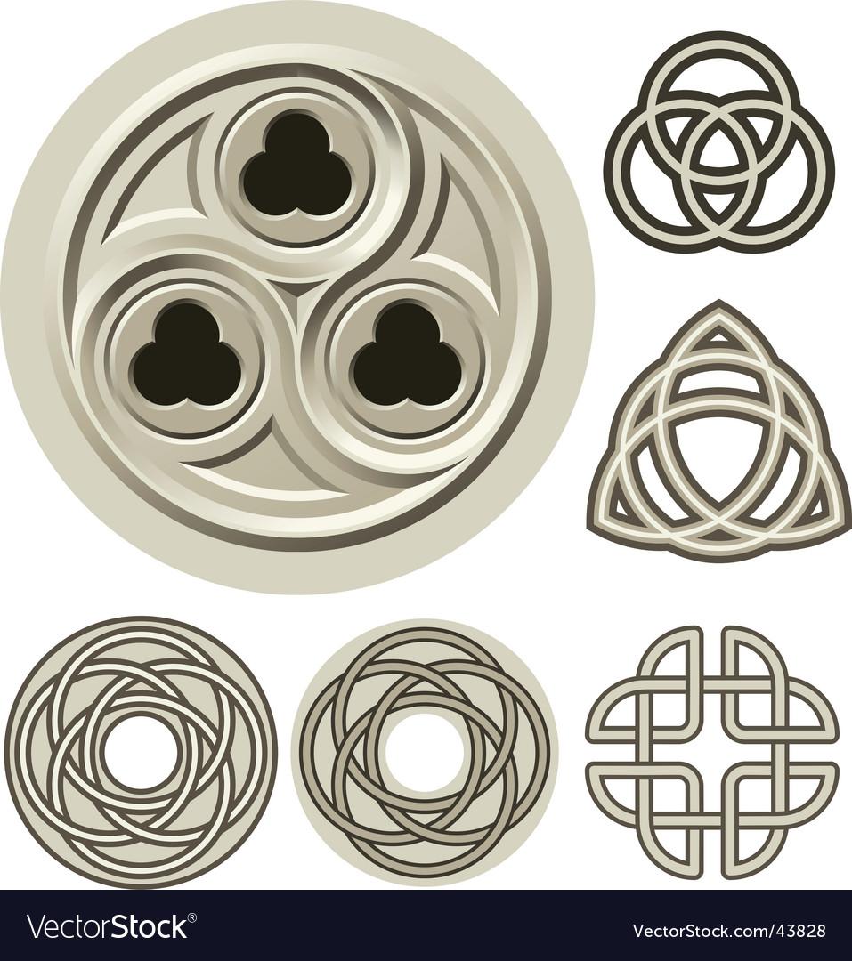 Ancient elements vector image
