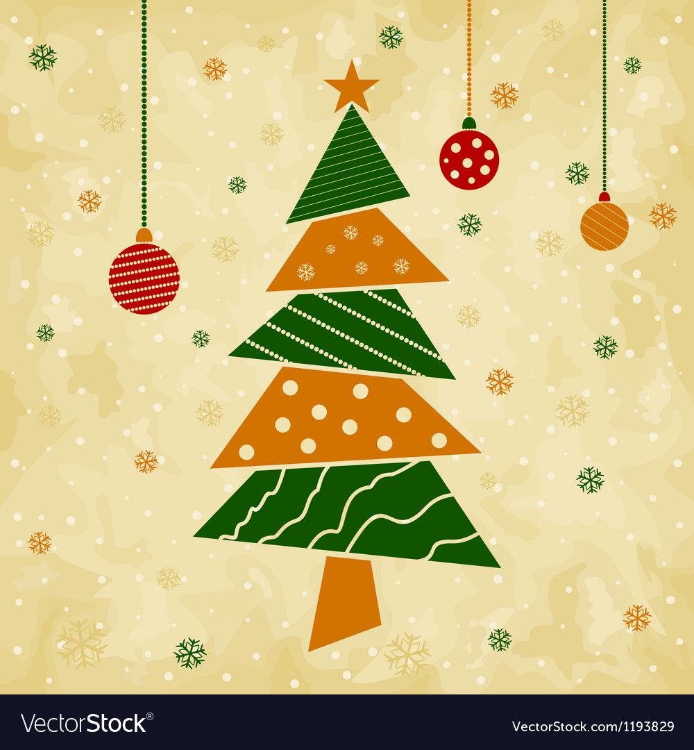 Christmas tree5 vector image